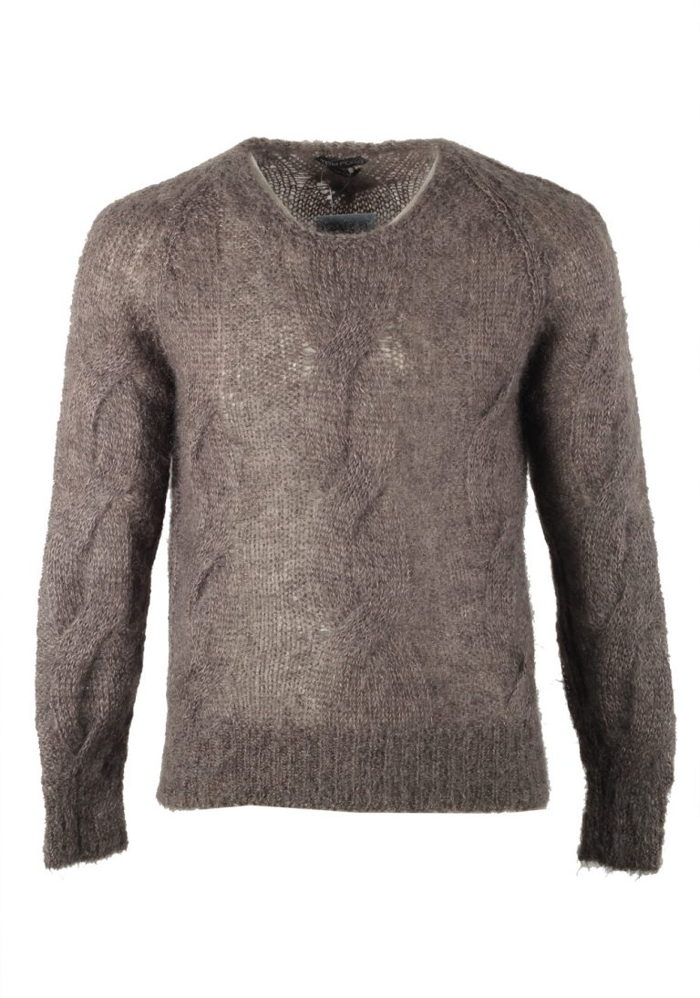 TOM FORD Brown Crew Neck Sweater Size 50 / 40R U.S. In Mohair Blend - thumbnail | Costume Limité