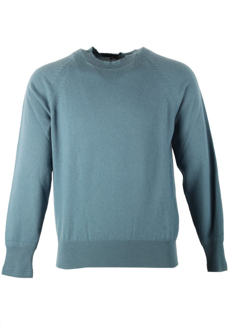 TOM FORD Teal Crew Neck Sweater Size 48 / 38R U.S. In Cashmere - thumbnail | Costume Limité
