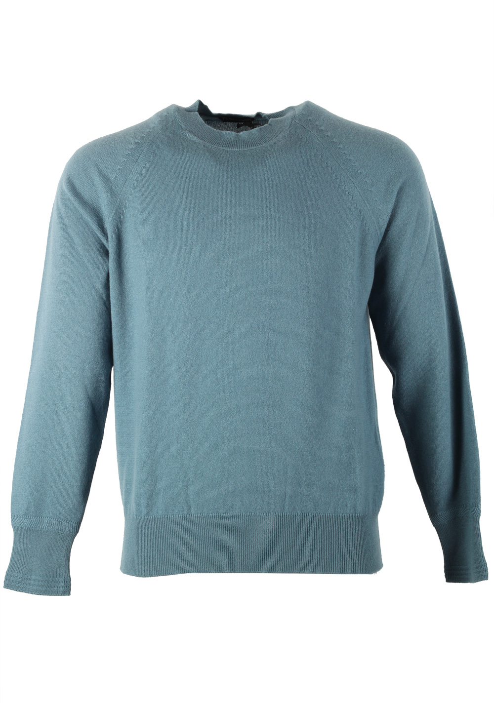 TOM FORD Teal Crew Neck Sweater Size 48 / 38R U.S. In Cashmere | Costume Limité