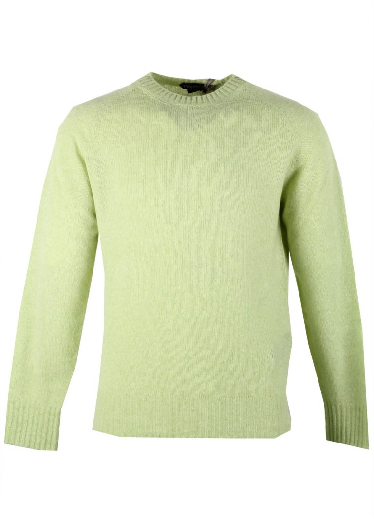 TOM FORD Green Crew Neck Sweater Size 48 / 38R U.S. In Cashmere Blend - thumbnail | Costume Limité