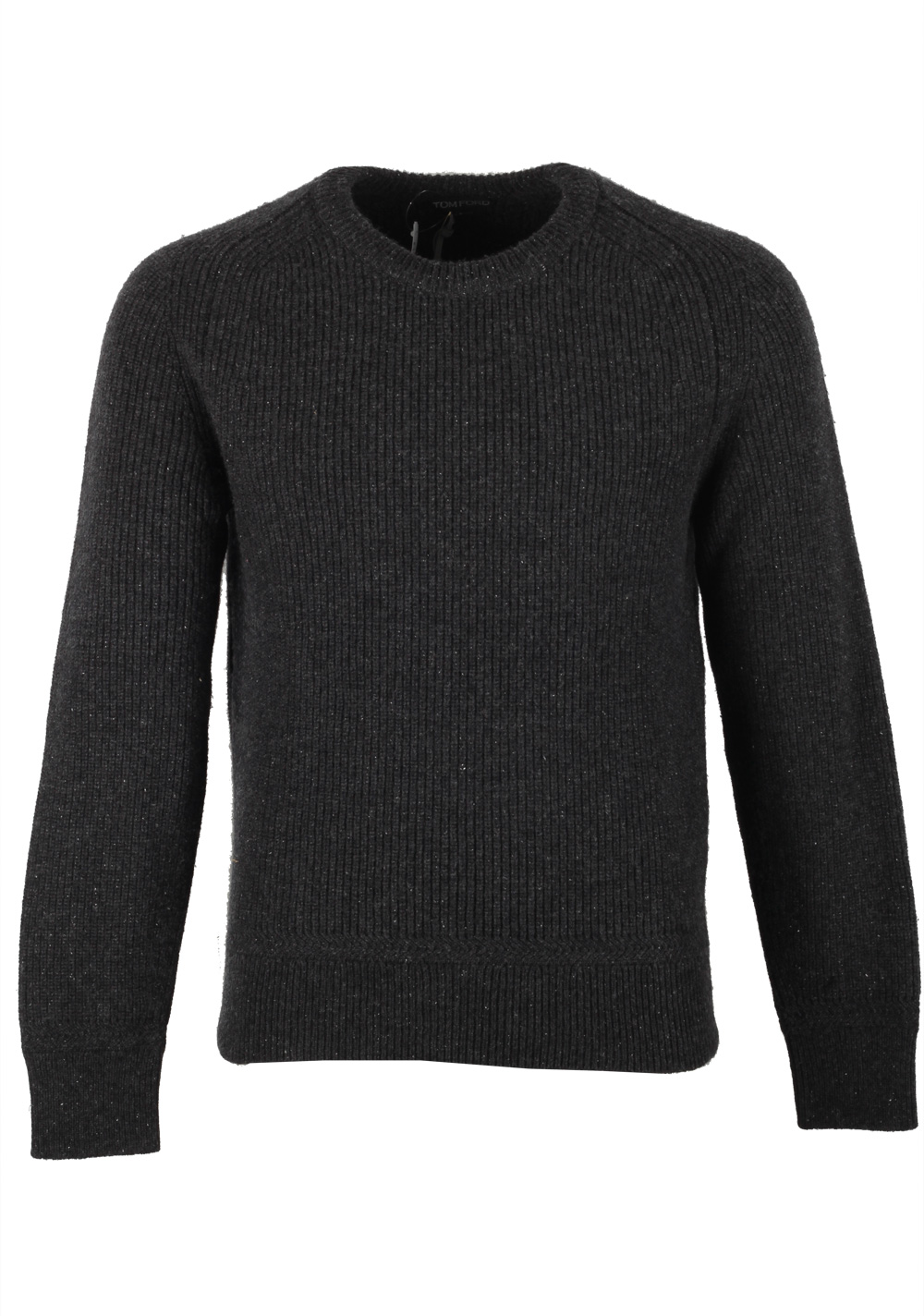 TOM FORD Gray Crew Neck Sweater Size 48 / 38R U.S. In Wool Silk   Costume Limité