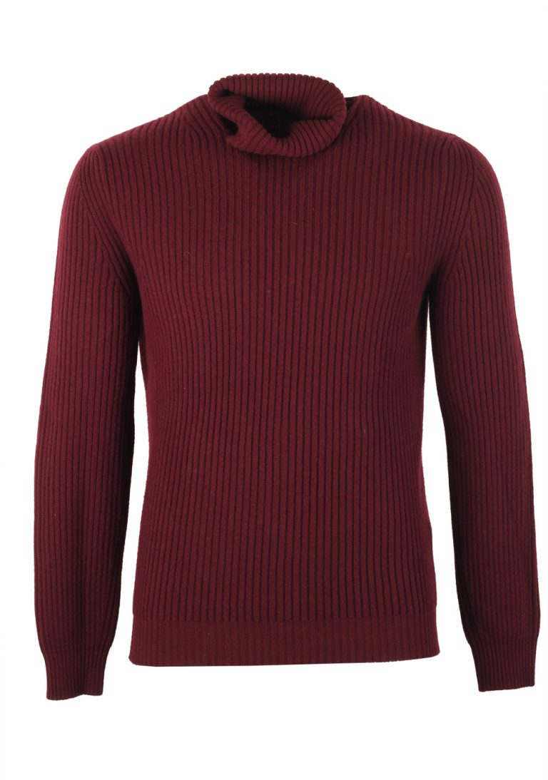 TOM FORD Red Turtleneck Sweater Size 48 / 38R U.S. In Wool Cashmere - thumbnail | Costume Limité