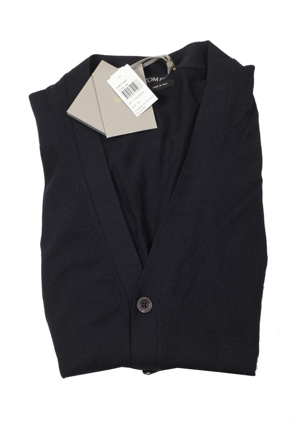 TOM FORD Blue Cardigan Size 48 / 38R U.S. in Wool   Costume Limité