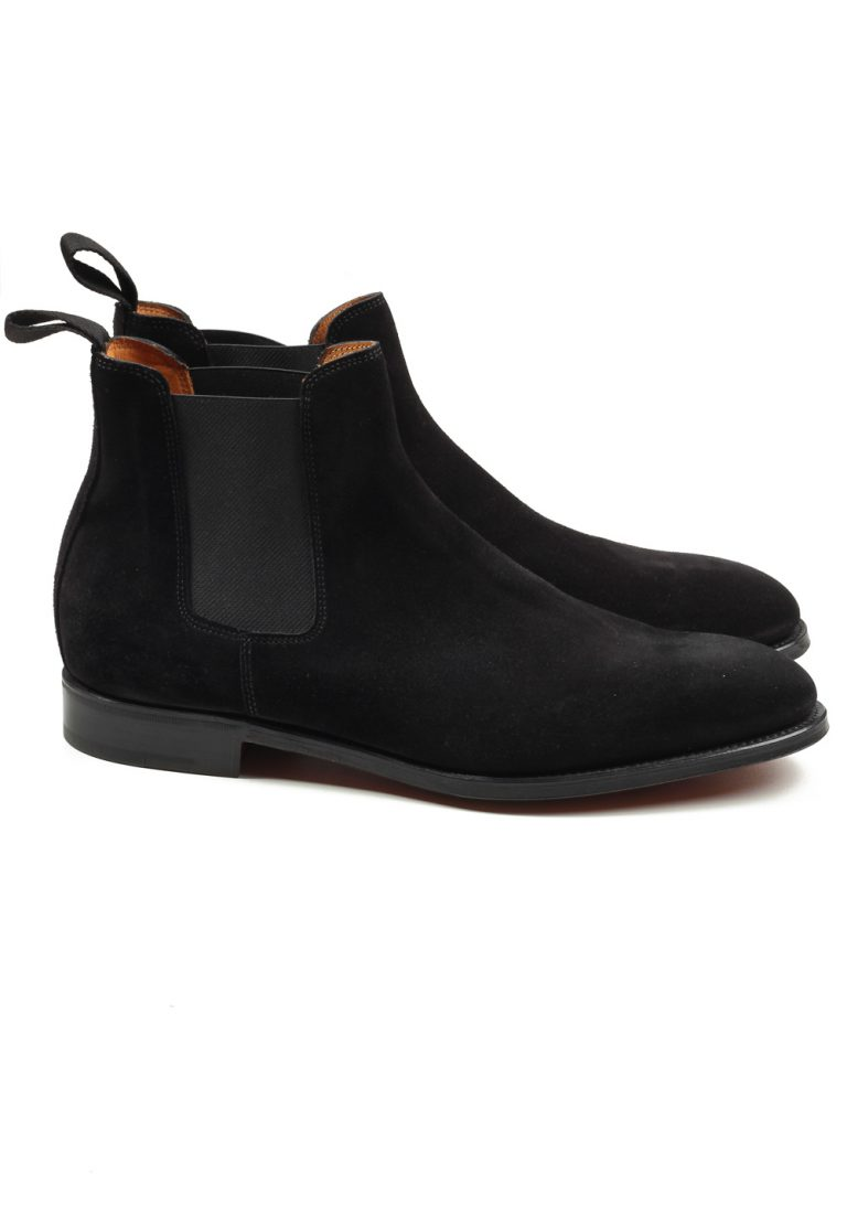 John Lobb Lawry Black Chelsea Boot Shoes Size 7 UK / 8 U.S. On 8695 Last - thumbnail | Costume Limité