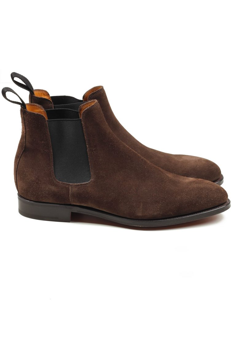 John Lobb Lawry Brown Chelsea Boot Shoes Size 7,5 UK / 8,5 U.S. On 8695 Last - thumbnail | Costume Limité
