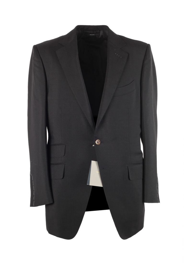 TOM FORD O'Connor Black Suit Size 50C/ 40S U.S. In Mohair Cashmere - thumbnail | Costume Limité