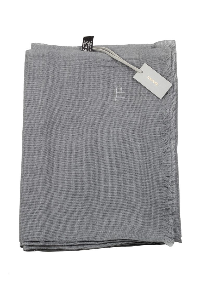Tom Ford Gray Cashmere Cotton Signature Scarf 75″ / 24″ - thumbnail | Costume Limité