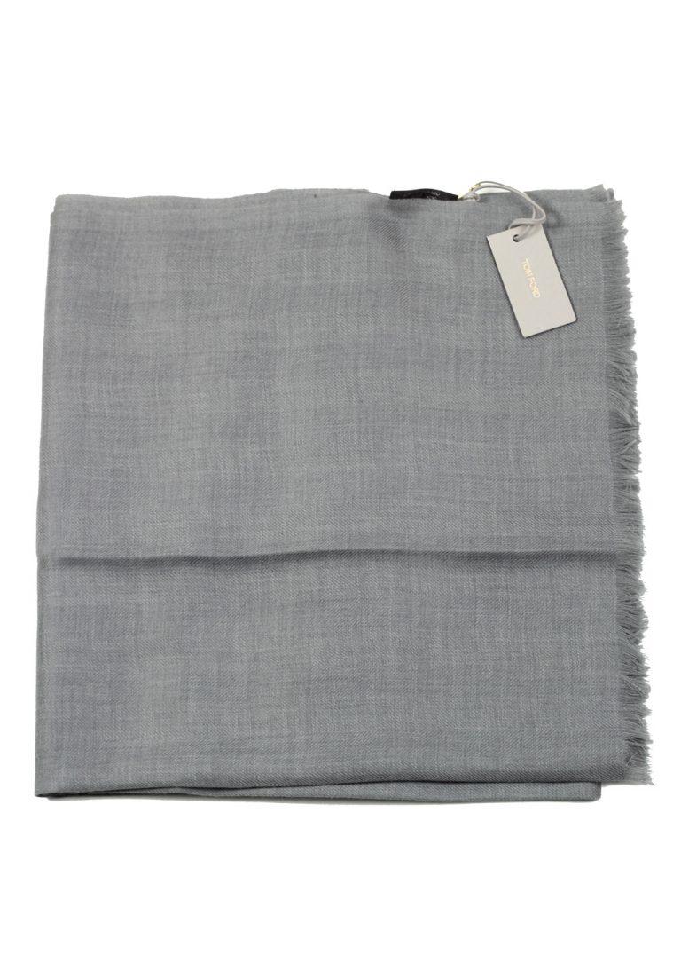 Tom Ford Gray Cashmere Cotton Signature Scarf 75″ / 24″ - thumbnail | Costume Limité