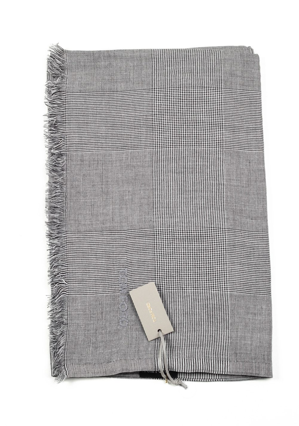 Tom Ford Gray Modal Cashmere Silk Signature Scarf 75″ / 30″ | Costume Limité
