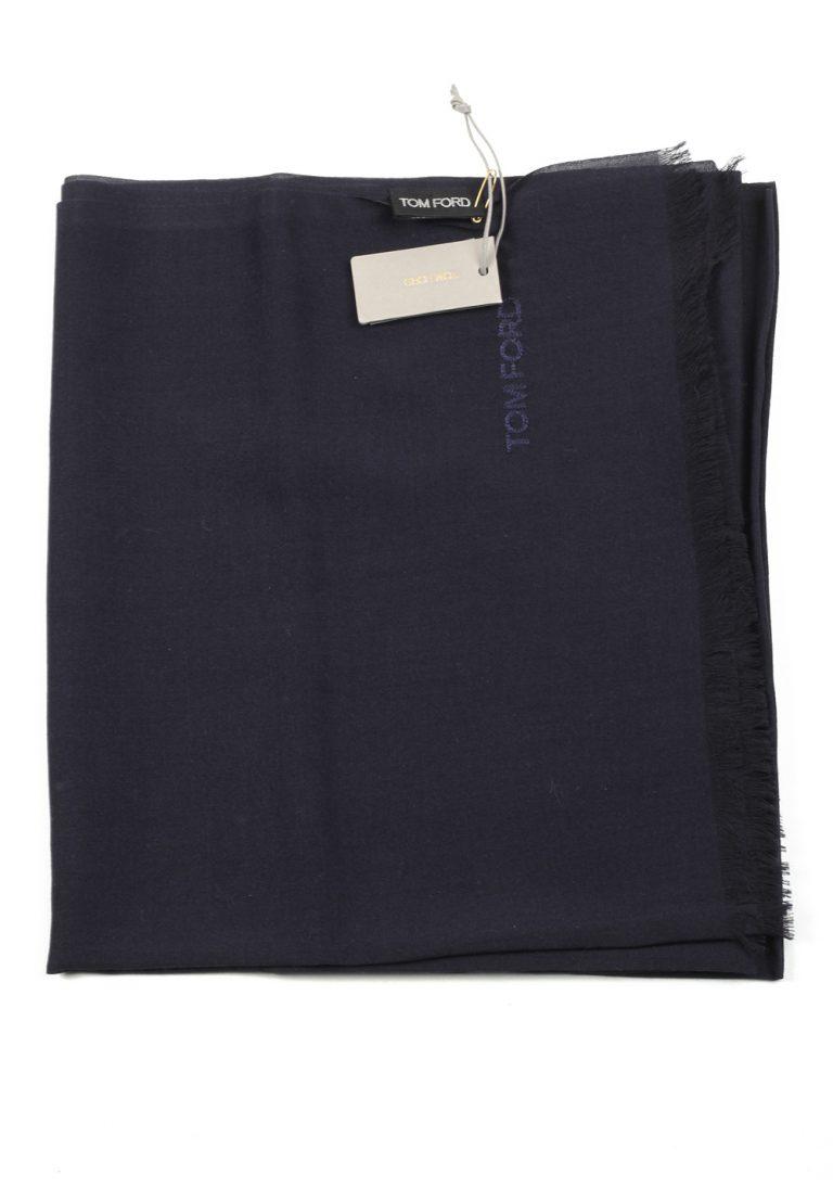 Tom Ford Blue Cashmere Mulberry Silk Signature Scarf 75″ / 24″ - thumbnail | Costume Limité