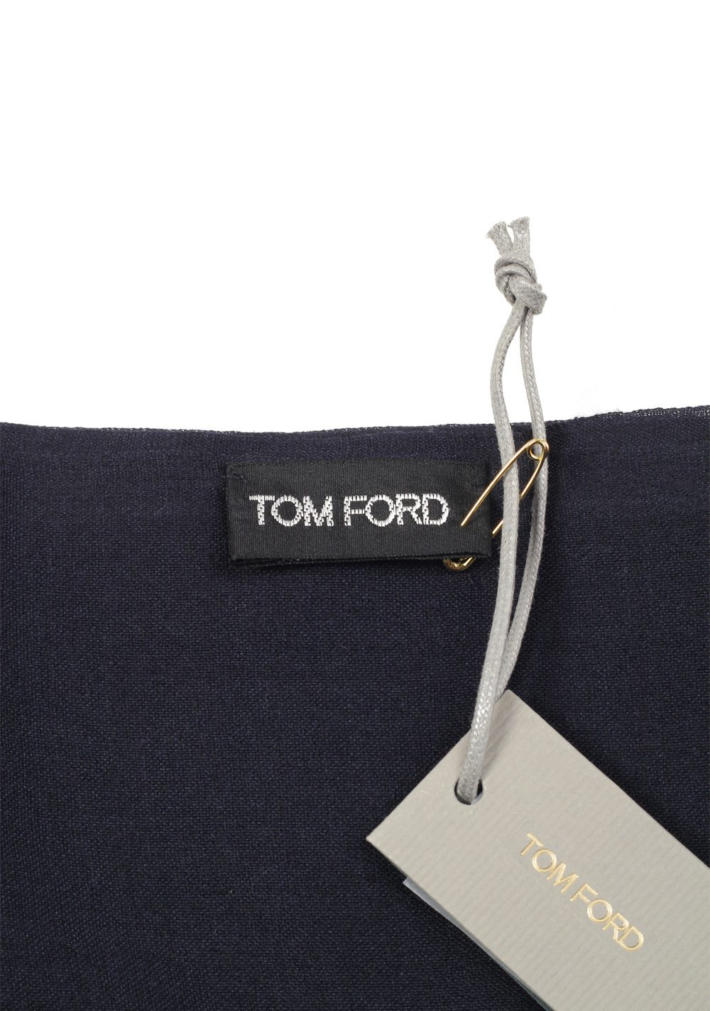 Tom Ford Blue Cashmere Mulberry Silk Signature Scarf 75″ / 24″ | Costume Limité