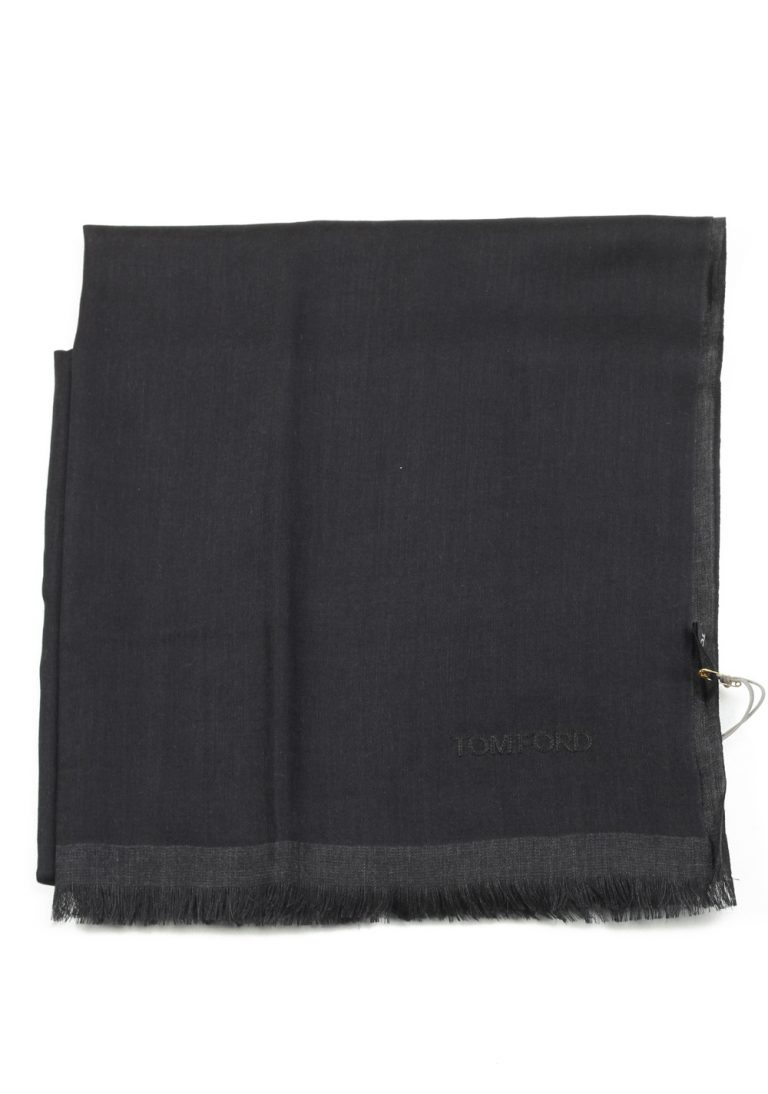 Tom Ford Black Cashmere Silk Signature Scarf 75″ / 24″ - thumbnail | Costume Limité