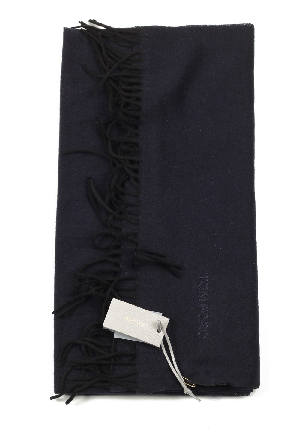 Tom Ford Black Silk Signature Scarf 60″ / 14″ | Costume Limité