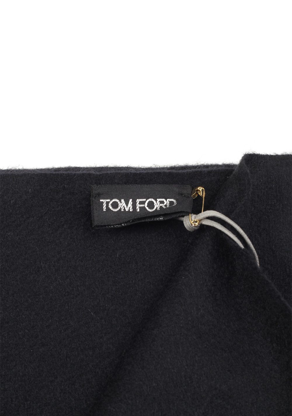 Tom Ford Black Cashmere Signature Scarf 60″ / 14″   Costume Limité