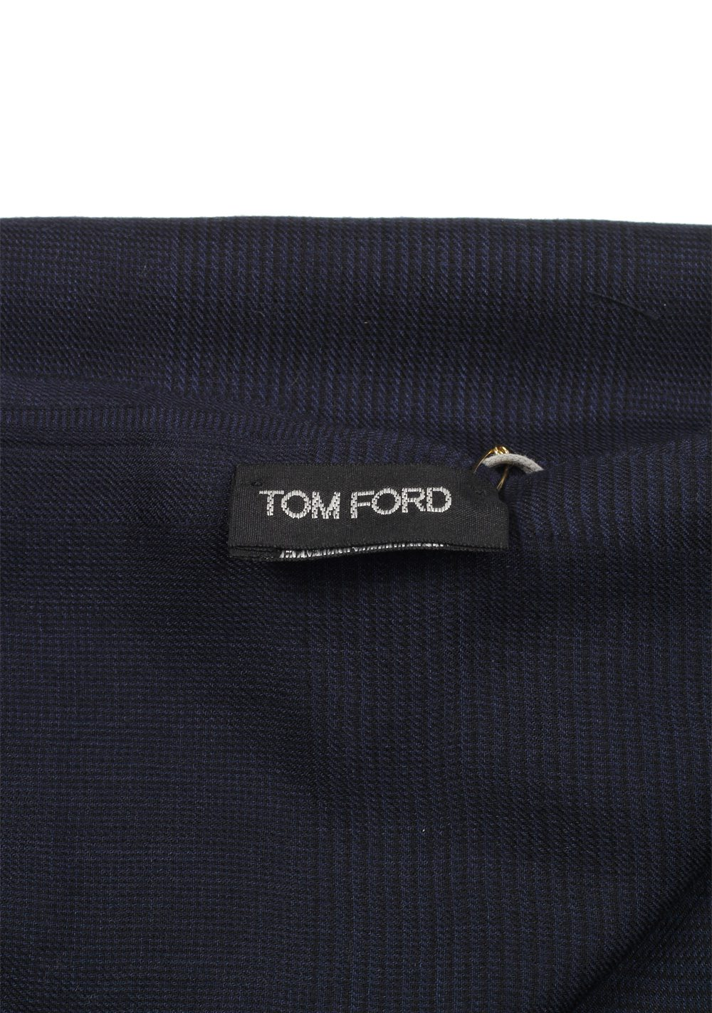 Tom Ford Blue Modal Cashmere Silk Signature Scarf 75″ / 30″ | Costume Limité