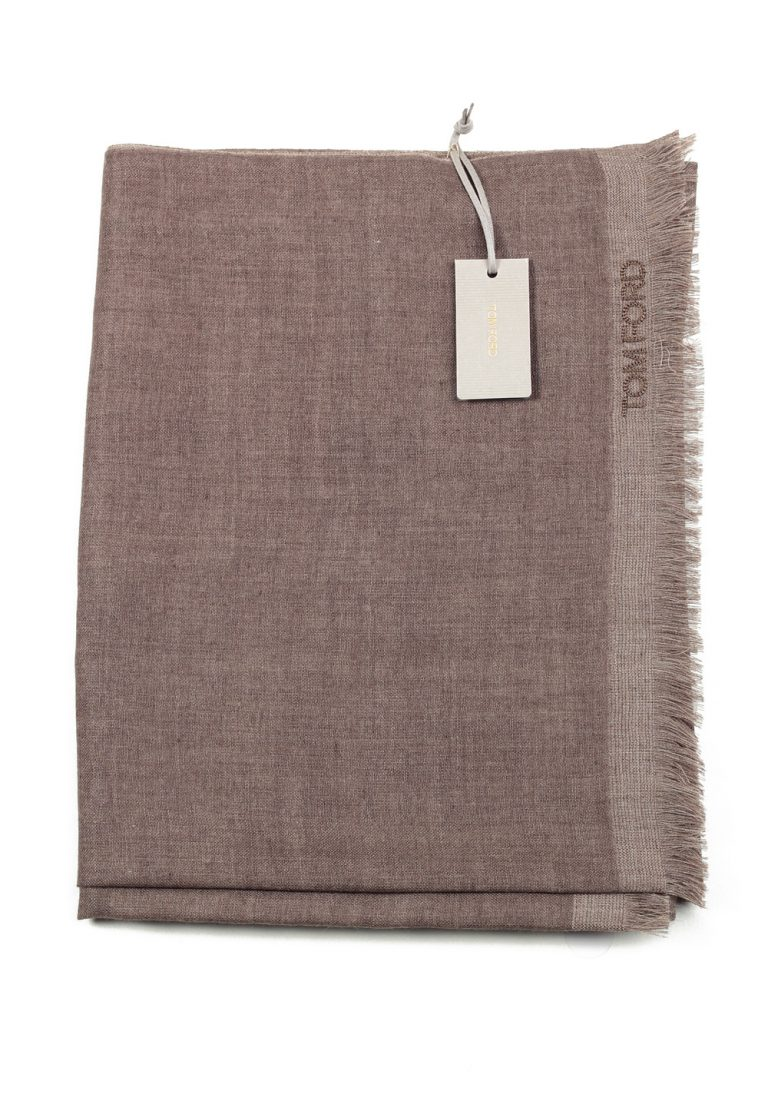 Tom Ford Brown Cashmere Silk Signature Scarf 75″ / 24″ - thumbnail | Costume Limité