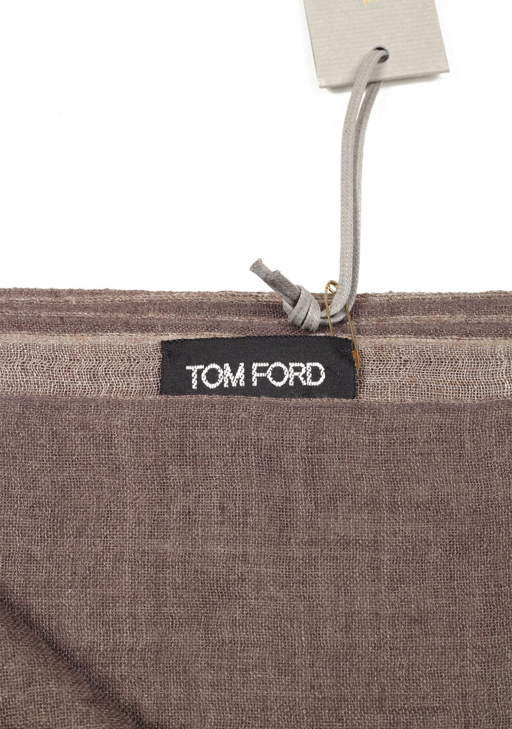 Tom Ford Brown Cashmere Silk Signature Scarf 75″ / 24″ | Costume Limité