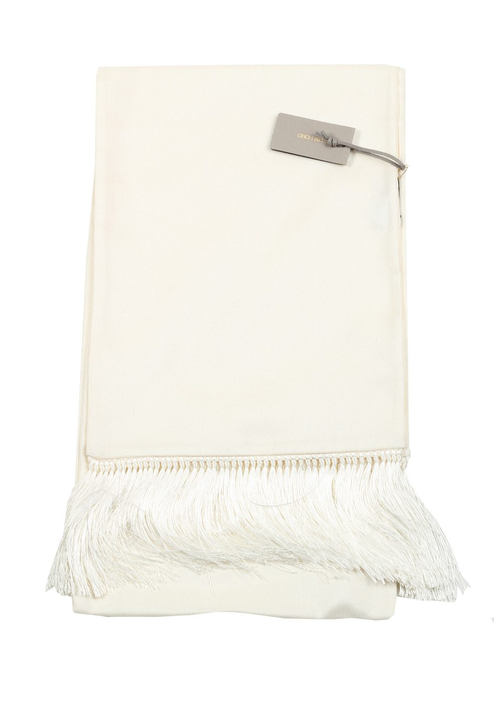 Tom Ford Ivory Silk Signature Scarf 60″ / 14″ | Costume Limité