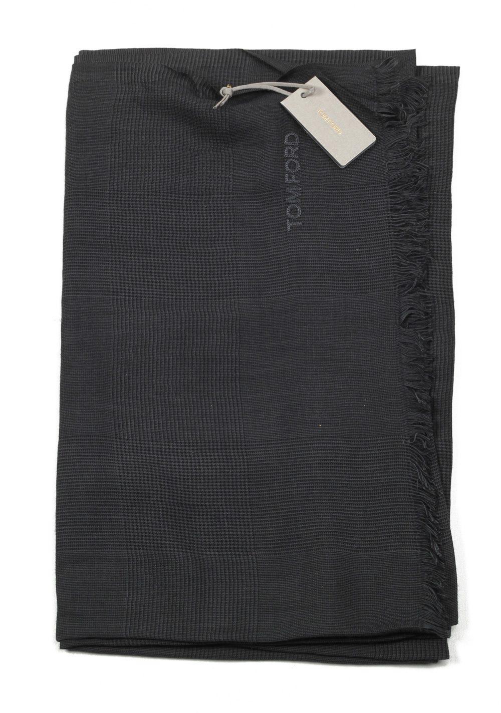 Tom Ford Gray Modal Cashmere Silk Signature Scarf 75″ / 30″ | Costume Limité