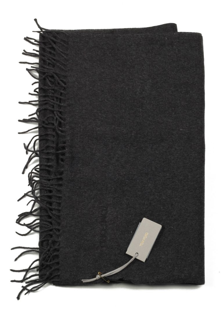 Tom Ford Gray Silk Signature Scarf 70″ / 15″ - thumbnail | Costume Limité