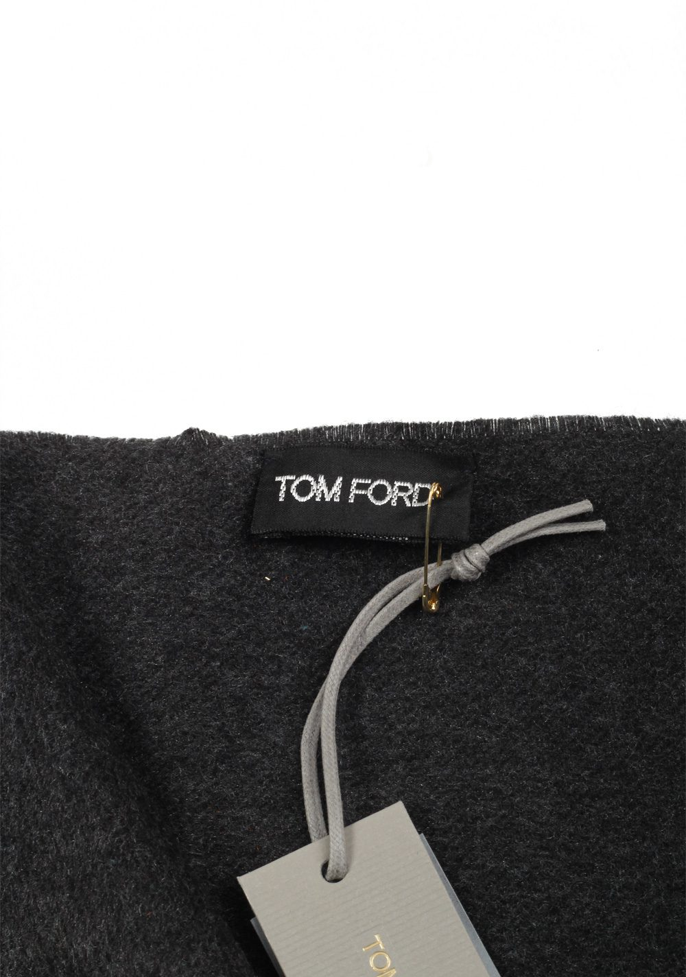 Tom Ford Gray Silk Signature Scarf 70″ / 15″ | Costume Limité