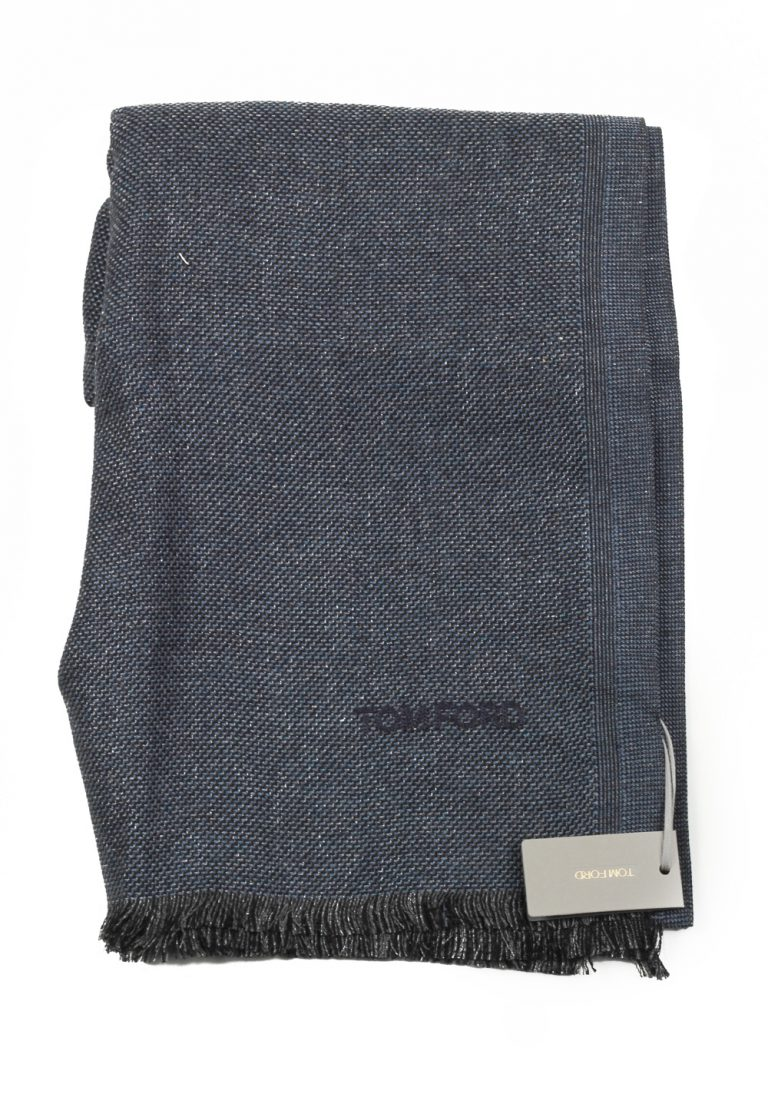 Tom Ford Blueish Gray Silk Signature Scarf 70″ / 22″ - thumbnail | Costume Limité