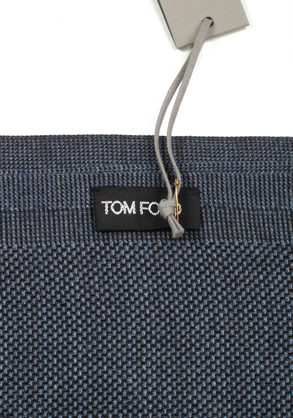 Tom Ford Blueish Gray Silk Signature Scarf 70″ / 22″ | Costume Limité