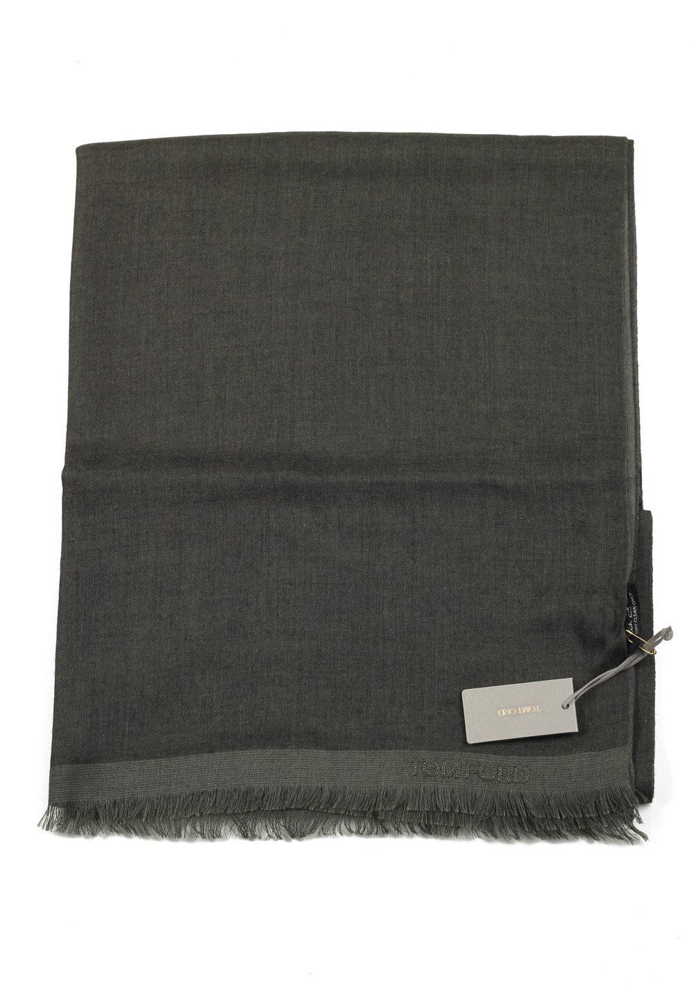 Tom Ford Gray Cashmere Silk Signature Scarf 75″ / 24″ | Costume Limité