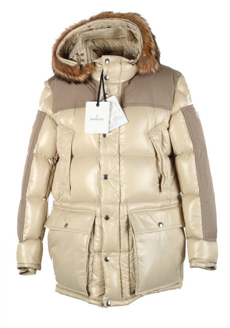 Moncler Beige Frey Down Quilted Jacket Coat Size 4 / L / 52 / 42 U.S. - thumbnail | Costume Limité