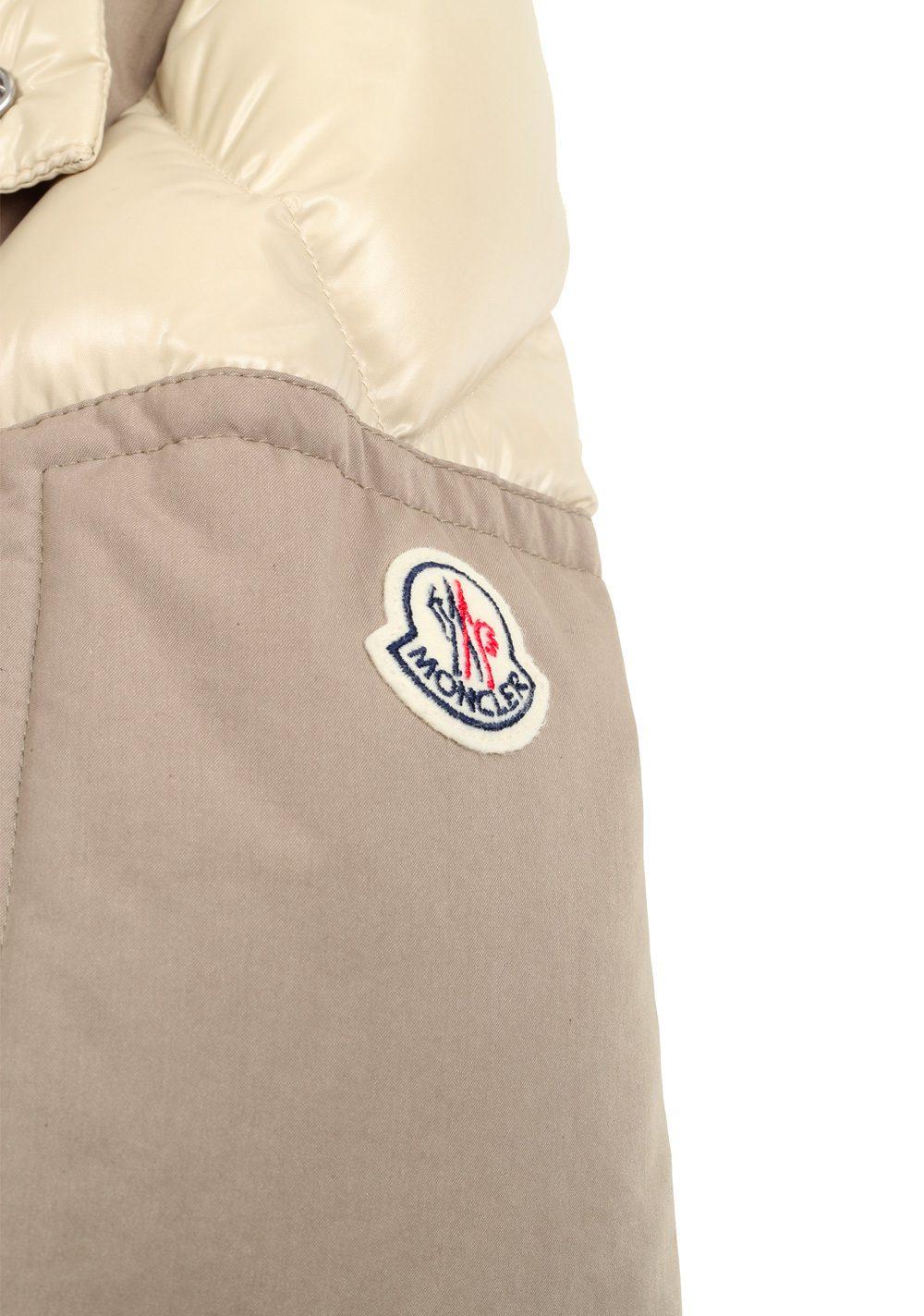 Moncler Beige Frey Down Quilted Jacket Coat Size 4 / L / 52 / 42 U.S. | Costume Limité