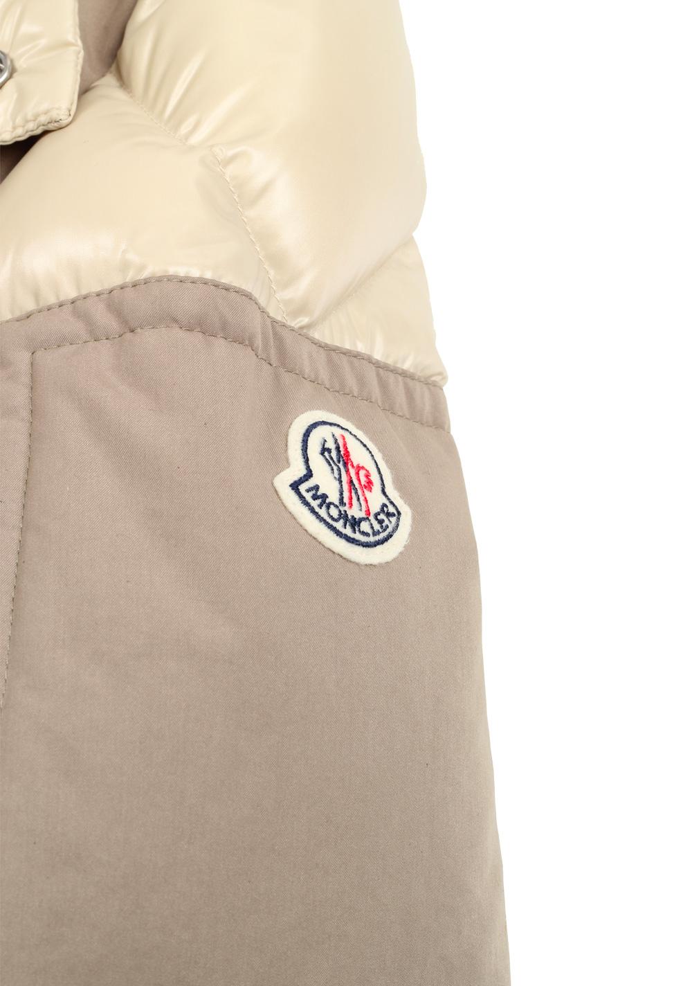 Moncler Beige Frey Down Quilted Jacket Coat Size 4 / L / 52 / 42 U.S.   Costume Limité