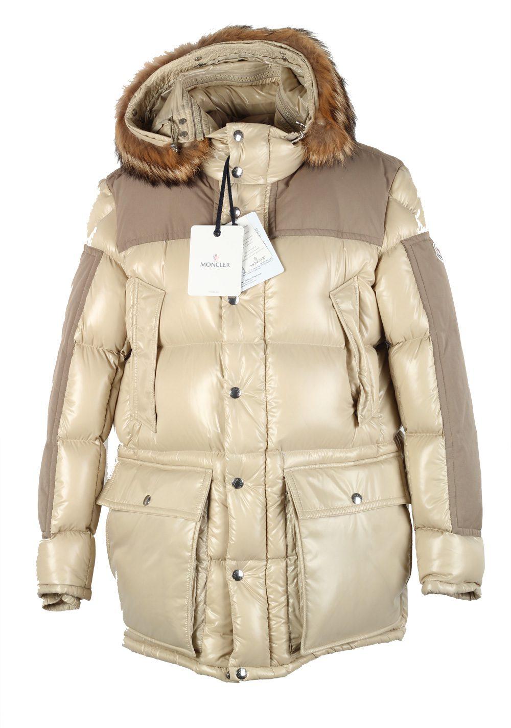 Moncler Beige Frey Down Quilted Jacket Coat Size 7 / XXL / 58 / 48 U.S. | Costume Limité
