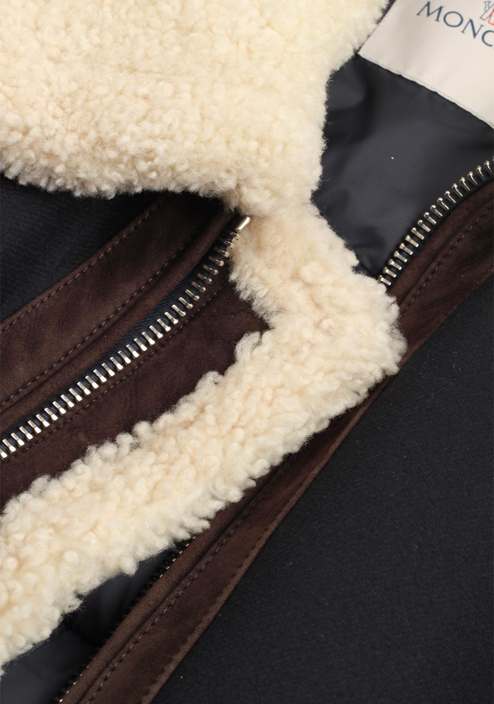Moncler Blue Plovan Wool Cashmere Blend Jacket Coat Size 3 / M / 50 / 40 U.S. | Costume Limité