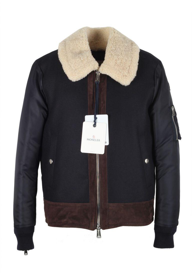 Moncler Blue Plovan Wool Cashmere Blend Jacket Coat Size 2 / M / 48 / 38 U.S. - thumbnail | Costume Limité