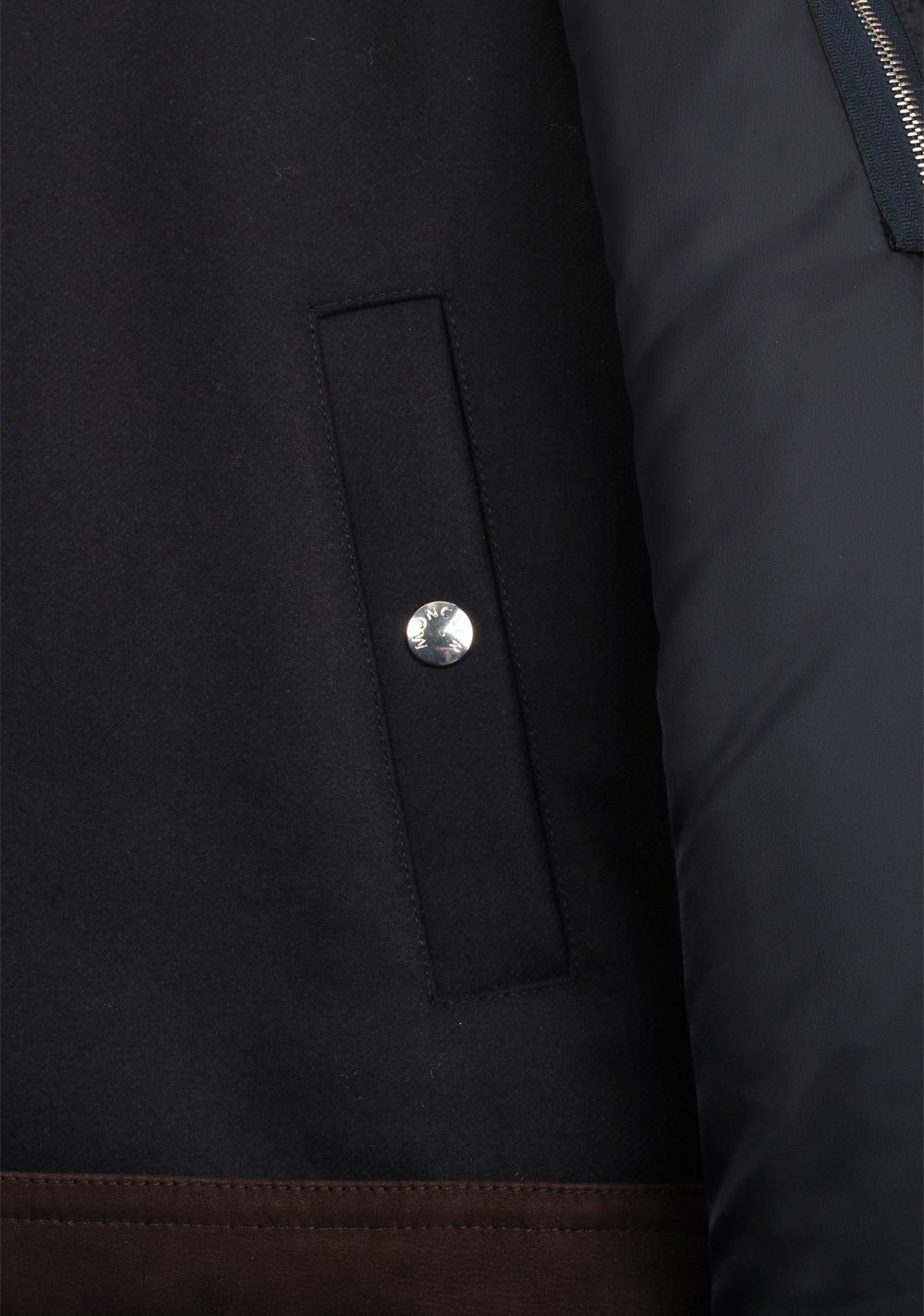Moncler Blue Plovan Wool Cashmere Blend Jacket Coat Size 2 / M / 48 / 38 U.S. | Costume Limité