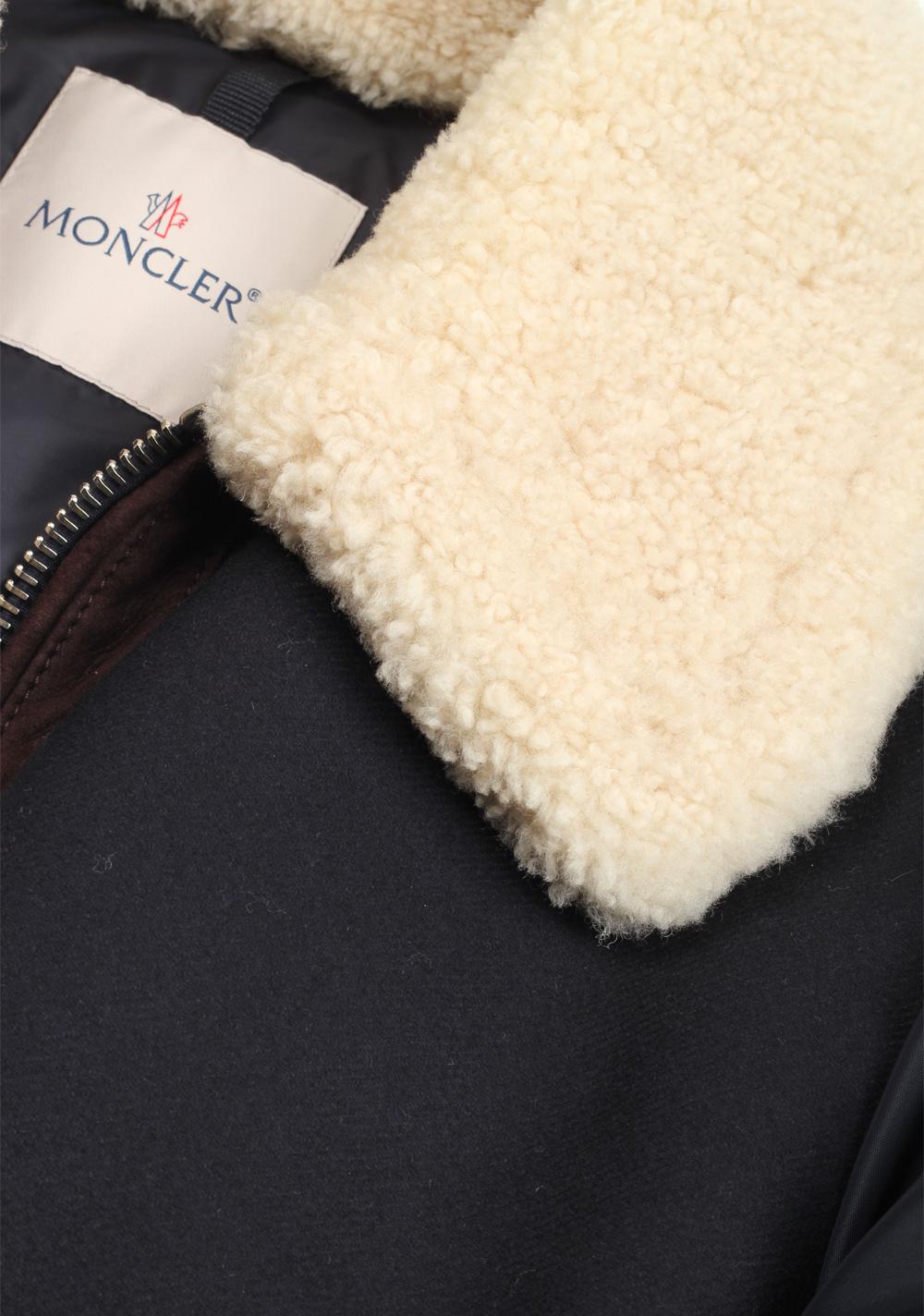 Moncler Blue Plovan Wool Cashmere Blend Jacket Coat Size 2 / M / 48 / 38 U.S.   Costume Limité
