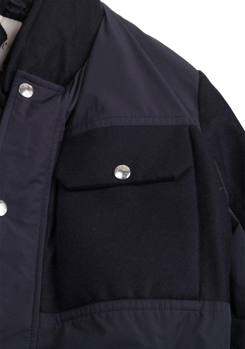 Moncler Blue Beaufort Utility Jacket Coat Size 4 / L / 52 / 42 U.S. | Costume Limité