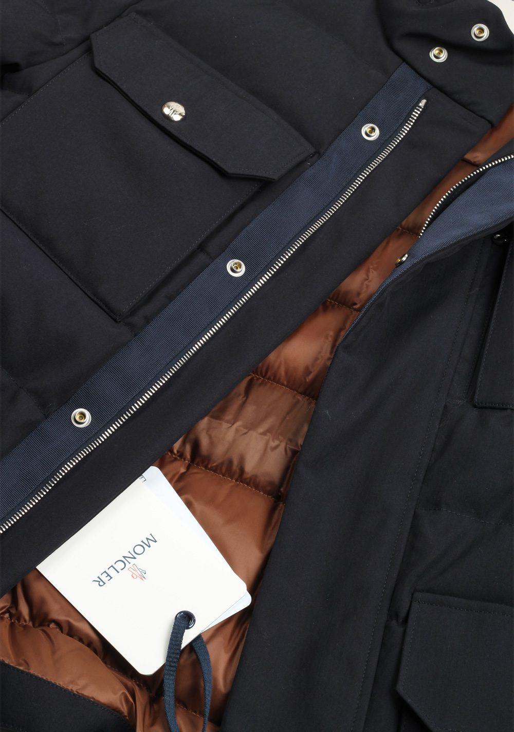 Moncler Blue Levet Field Jacket Coat Size 2 / M / 48 / 38 U.S. | Costume Limité