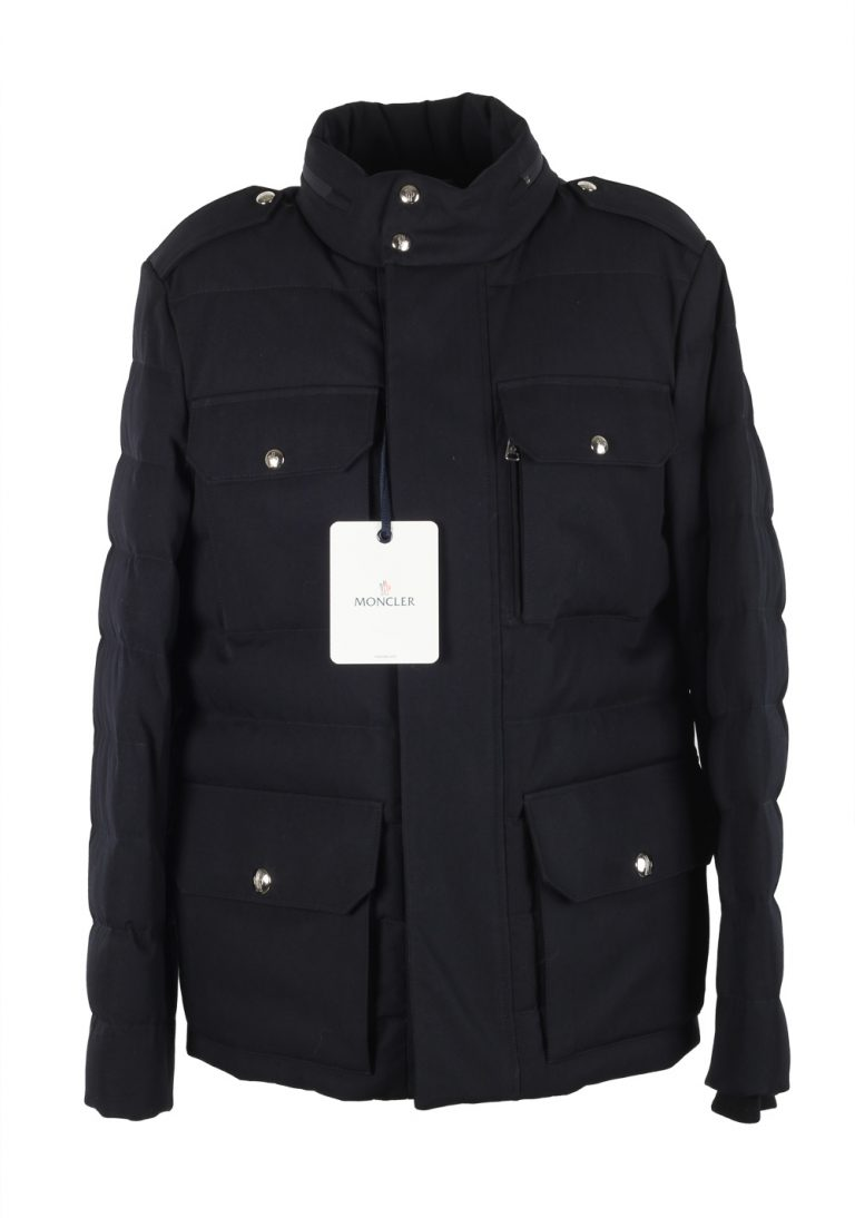 Moncler Blue Levet Field Jacket Coat Size 5 / XL / 54 / 44 U.S. - thumbnail | Costume Limité