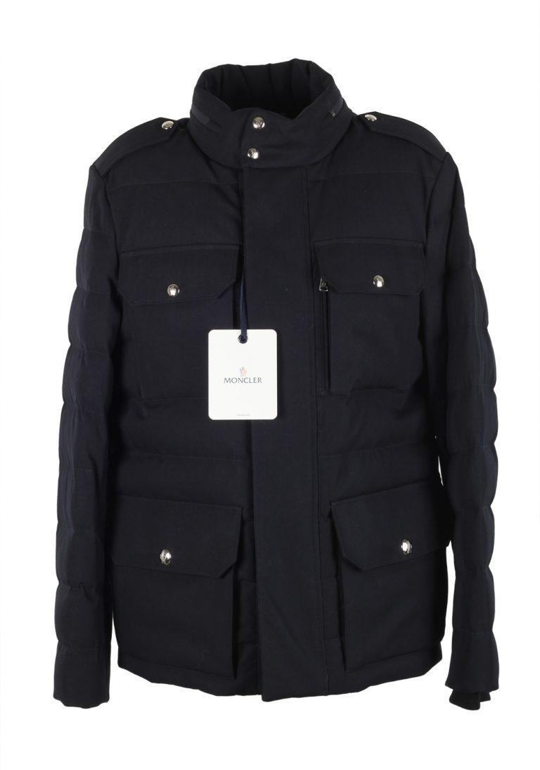 Moncler Blue Levet Field Jacket Coat Size 7 / XXL / 58 / 48 U.S. - thumbnail | Costume Limité