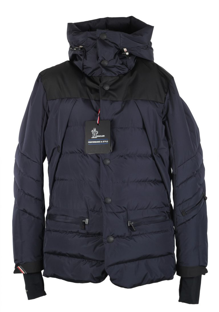 Moncler Blue Grenoble Arvieux Jacket Coat Size 4 / L / 52 / 42 U.S. - thumbnail | Costume Limité