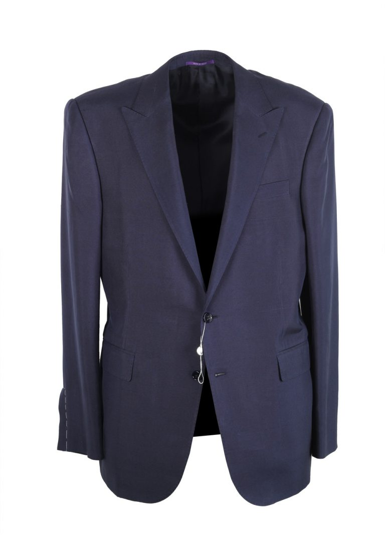 Ralph Lauren Purple Label Blue Sport Coat Size 52 / 42R U.S. In Silk - thumbnail | Costume Limité