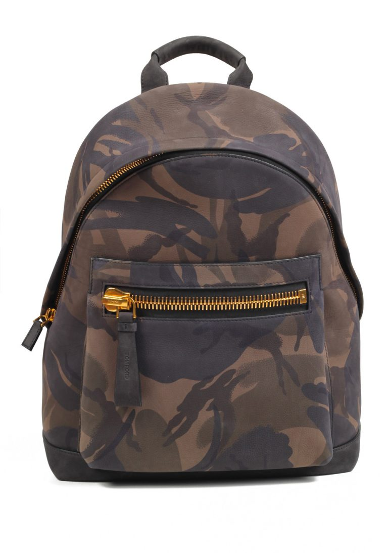 TOM FORD Camouflage Green Black Medium Buckley Backpack Bag - thumbnail | Costume Limité