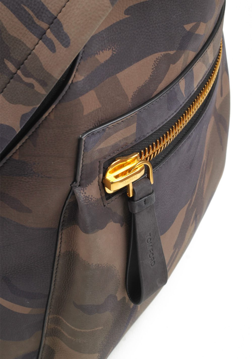 TOM FORD Camouflage Green Black Medium Buckley Backpack Bag | Costume Limité