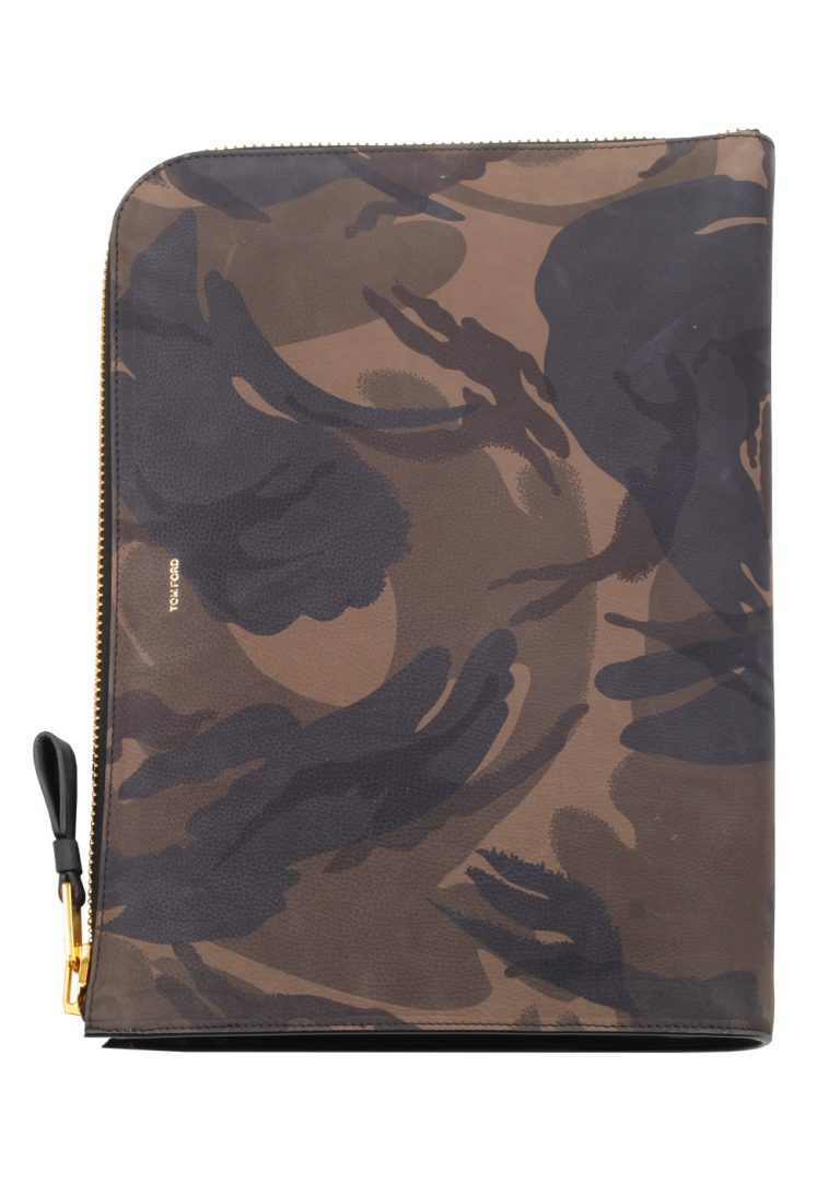 TOM FORD Camouflage Green Black Icon Portfolio Bag - thumbnail | Costume Limité