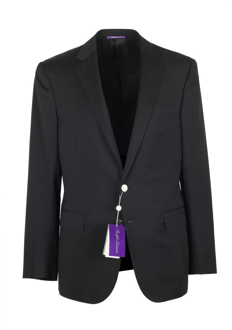 Ralph Lauren Purple Label Black Sport Coat Size 54 / 44R U.S. In Wool - thumbnail | Costume Limité