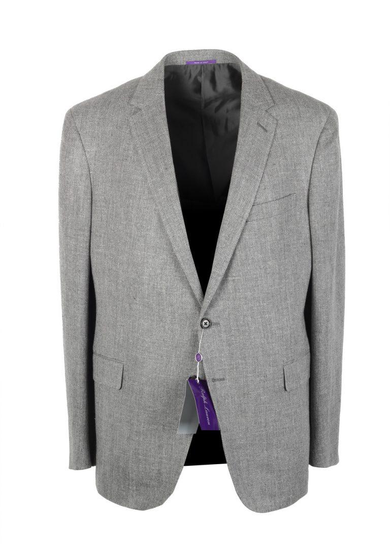Ralph Lauren Purple Label Gray Sport Coat Size 54 / 44R U.S. In Linen blend - thumbnail | Costume Limité