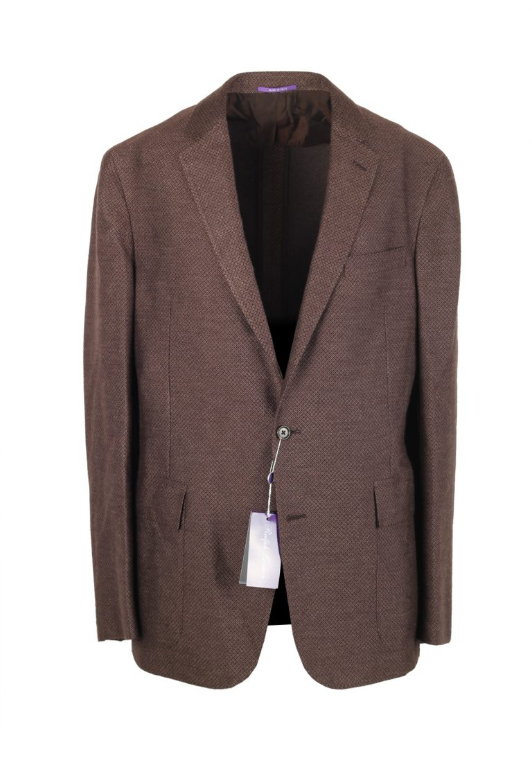 Ralph Lauren Purple Label Brown Sport Coat Size 52 / 42L U.S. In Silk Cashmere - thumbnail | Costume Limité