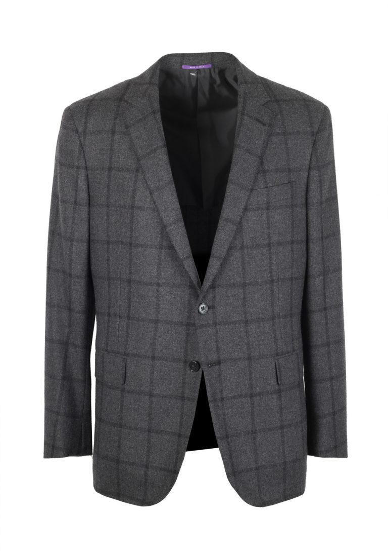 Ralph Lauren Purple Label Gray Sport Coat Size 52 / 42R U.S. In Cashmere Blend - thumbnail | Costume Limité