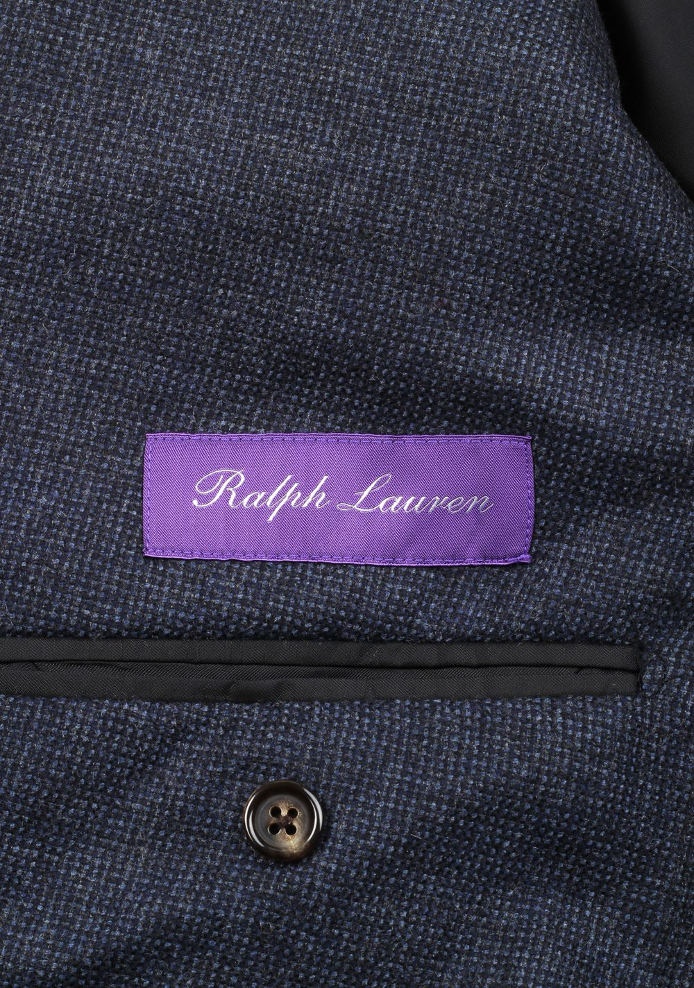 Ralph Lauren Purple Label Blue Sport Coat Size 54 / 44R U.S. In Cashmere Blend | Costume Limité